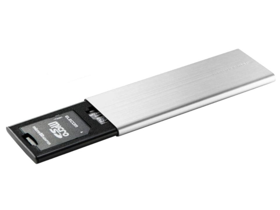 スリムでクリップ付き。SDカードをスマートに携帯できる「エレコム メモリークリップ」