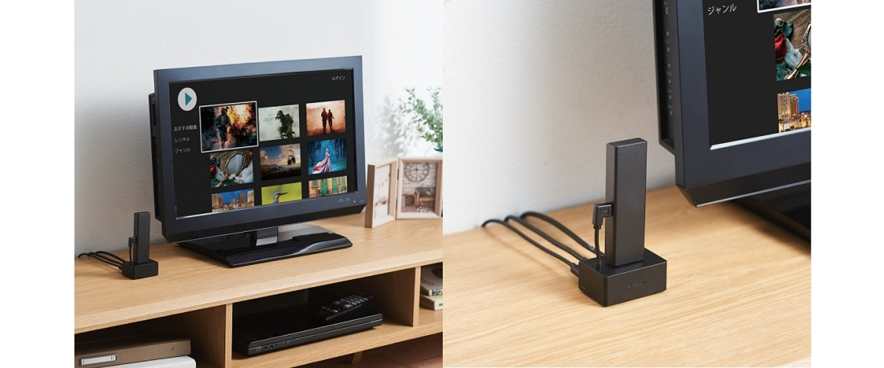 テレビの裏はWi-Fi拾いにくい? 有線LANも繋げるFire TV Stick用ドックで快適接続を実現!