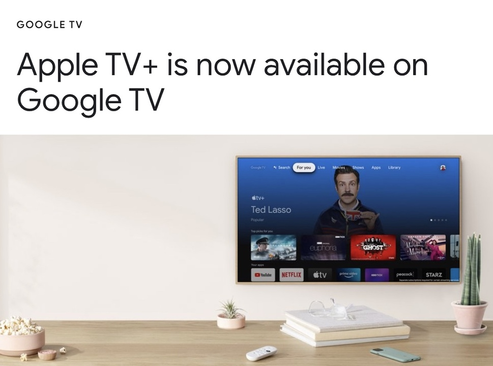 Apple TV+がChromecast with Google TVにやってくる