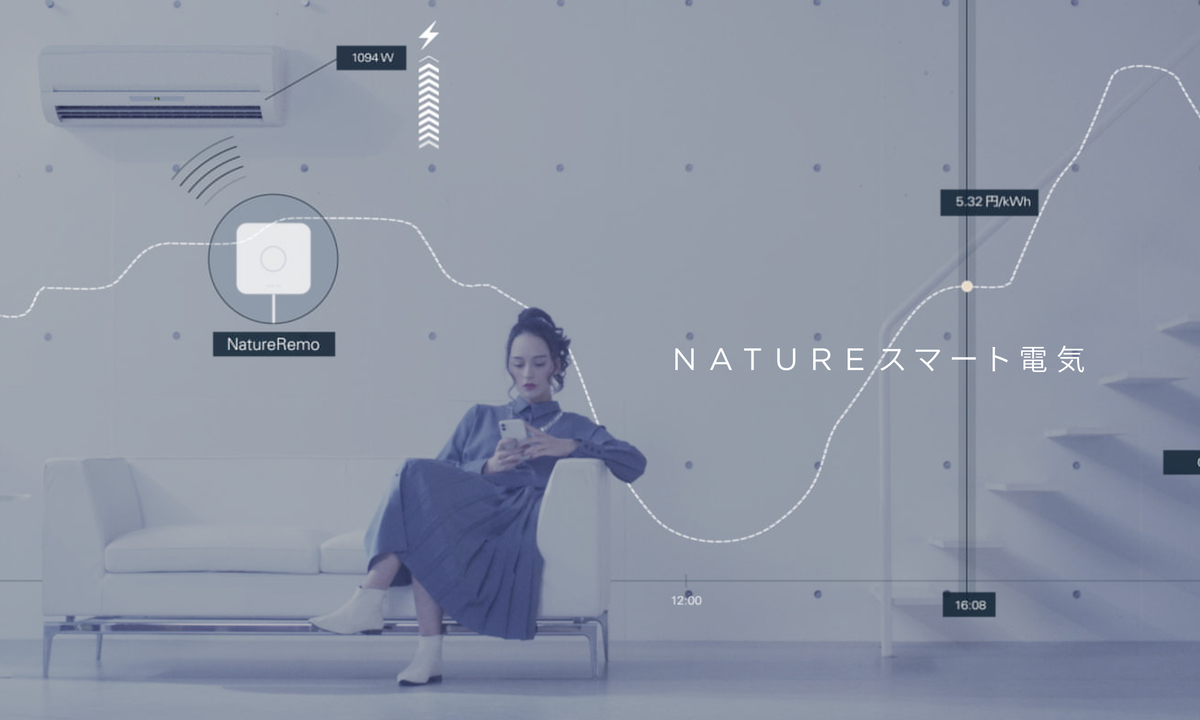 30分ごとに料金が変わる電力プラン「Natureスマート電気」。スマートリモコンでオート節約できるぞ