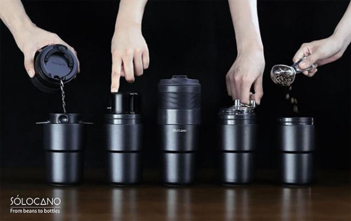 コーヒーをいつでも挽きたてで楽しむ。携帯できるオールインワンコーヒーメーカー「SoloCano」