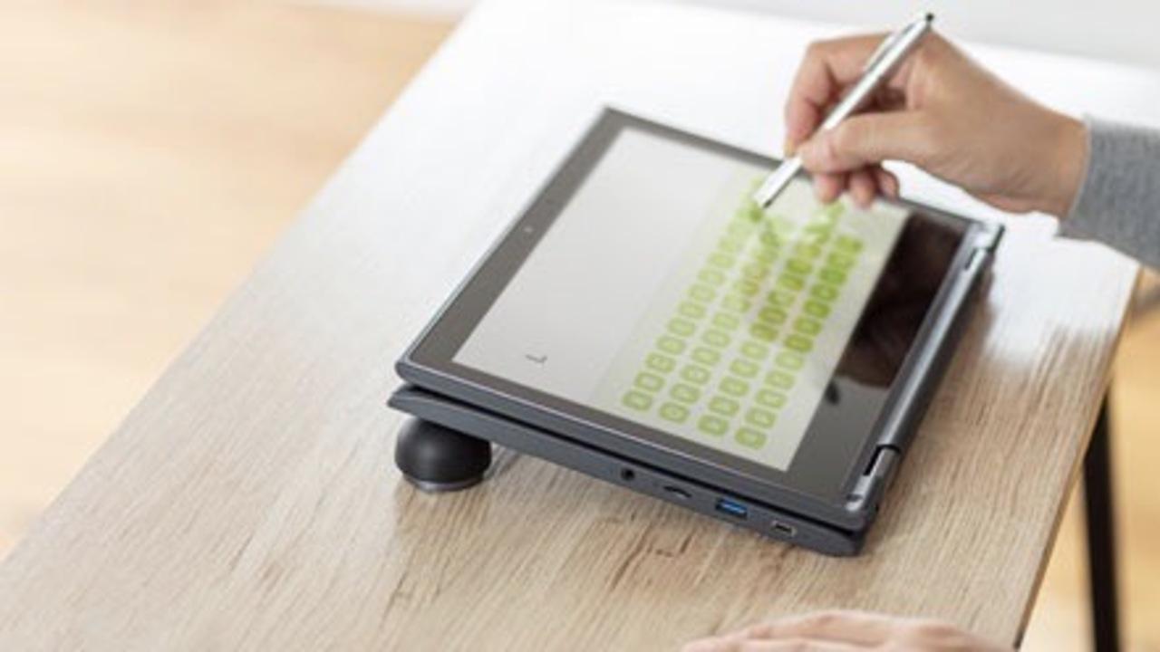 磁石でくっつき持ち運びやすい。放熱にも役立つ半球状のノートPCスタンド