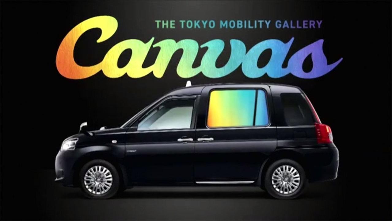 タクシーの窓がスクリーンに。「キャンバス」が東京のタクシーをギャラリーに変える