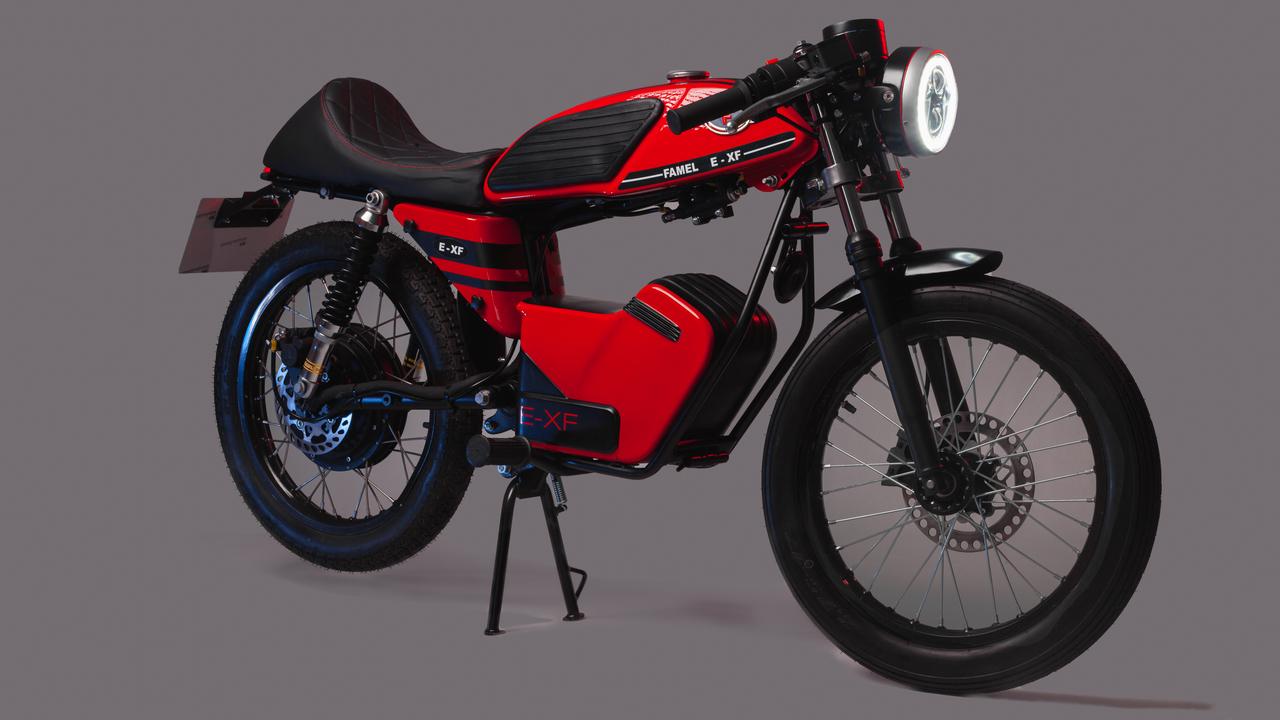 クラシカルなカフェレーサー風EVバイク「FAMEL E-XF」。ポルトガルのメーカーが復活!