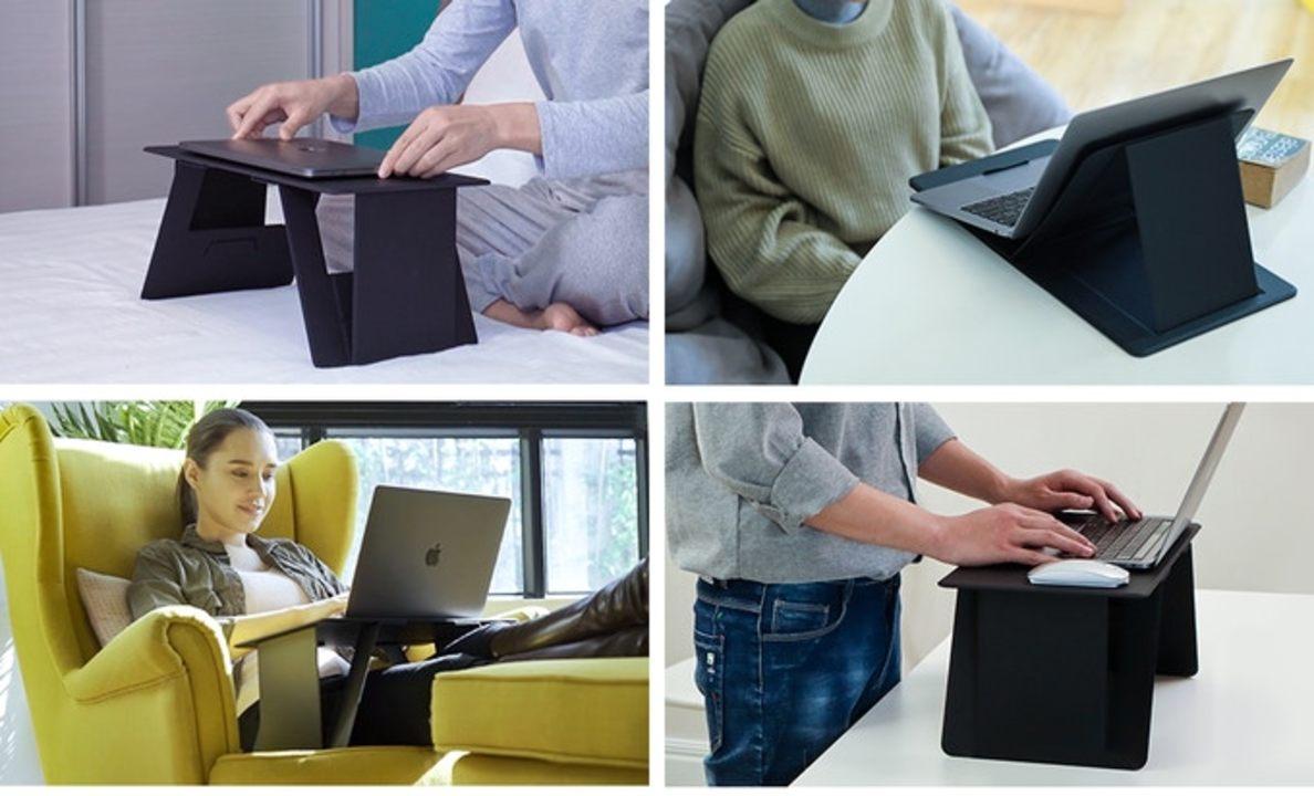 薄さ5mm! 超簡易的な折りたたみ作業デスク「iSwift Pi」は6つの形にトランスフォーム