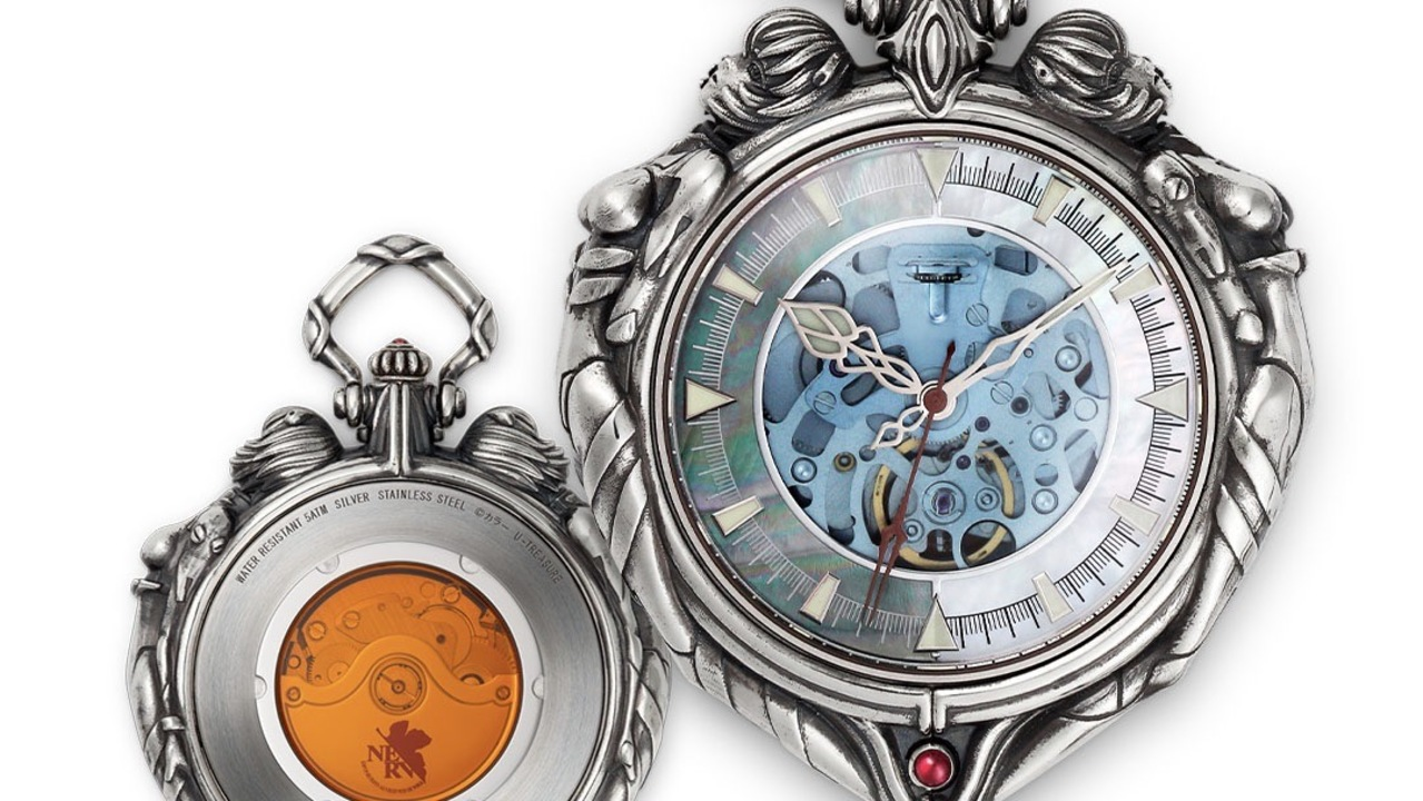 艶めかしい綾波レイが彫刻された『エヴァンゲリオン』懐中時計。覚悟が問われる36万円!