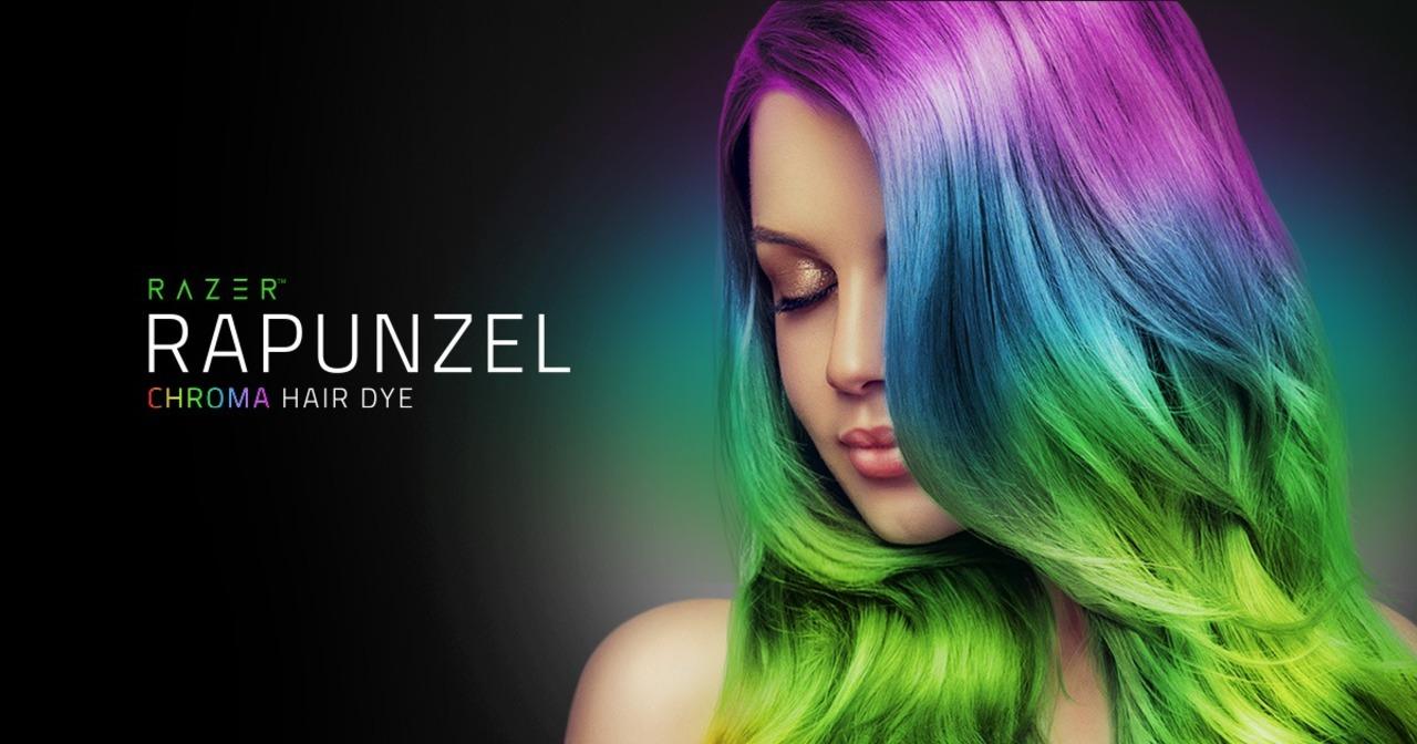 ゲーミングPCのRAZERから、極彩色になるヘアカラー。分子レベルで髪と結合するナノテク素材…え?