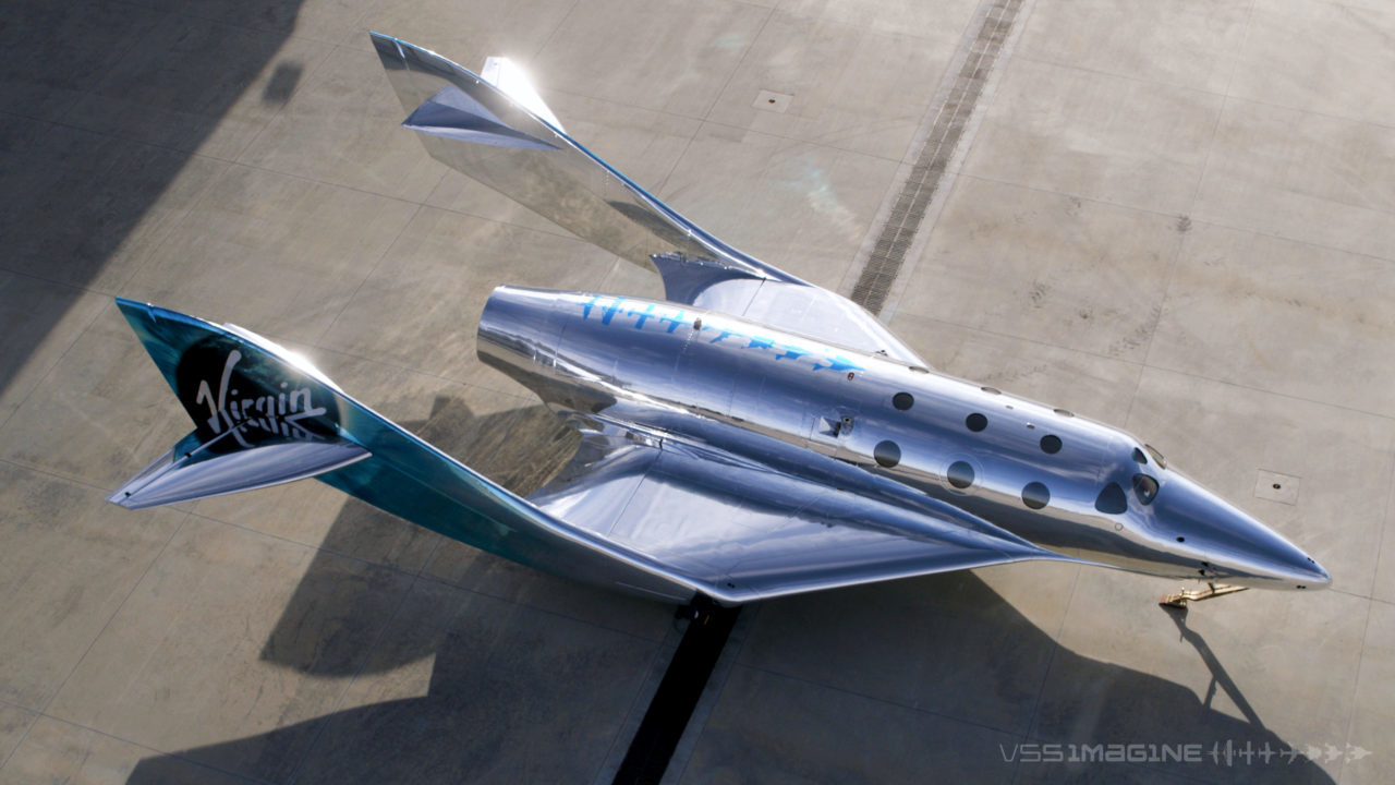ギンギラギンで眩しい! ヴァージン・ギャラクティックが第3世代の宇宙船「VSS imagine」を発表