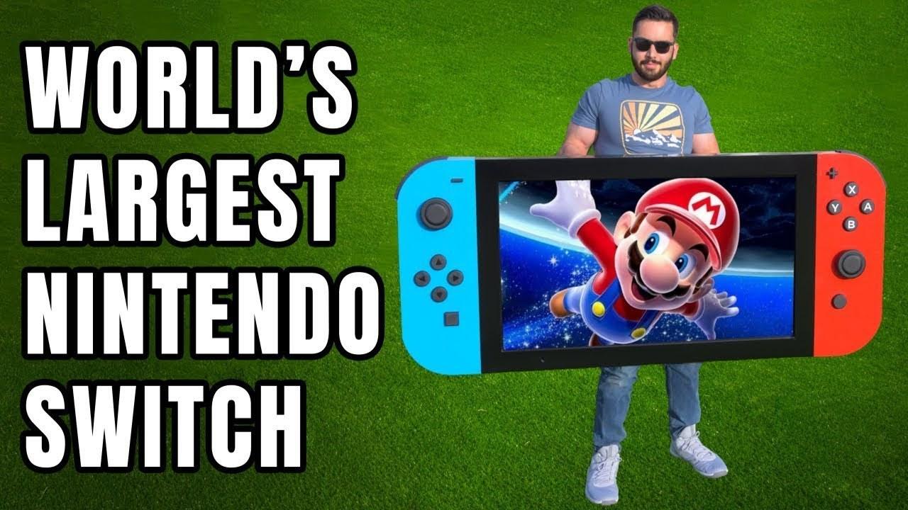 これでもプレイ可能。世界最大の「Nintendo Switch」を作った猛者現る