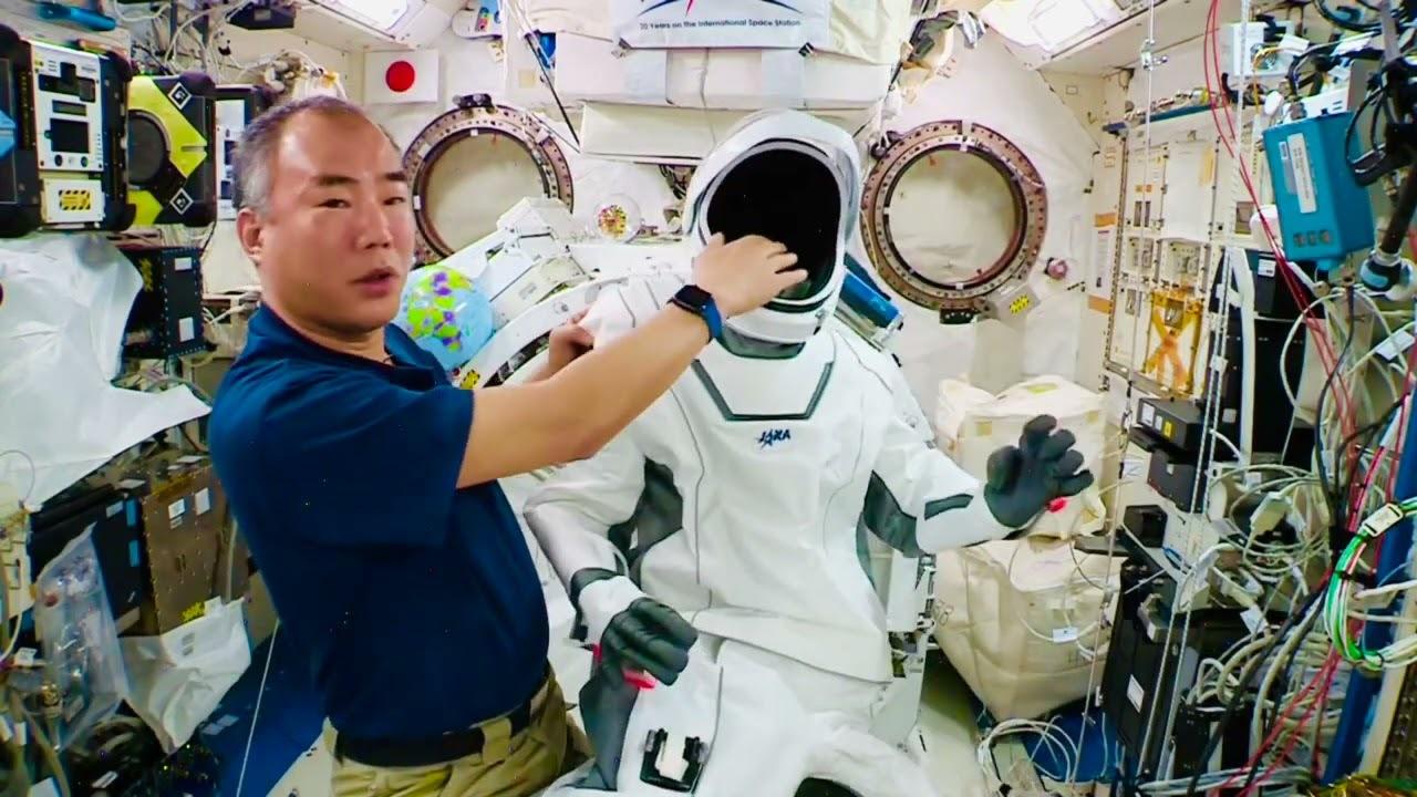 股から被ってテフロン加工!? ISSの野口聡一さんがSpaceXの宇宙服を詳しく紹介
