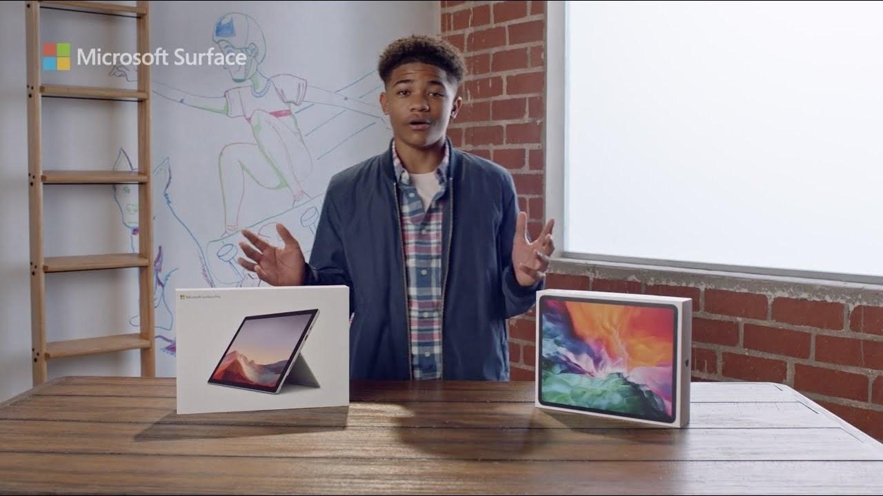 マイクロソフト「iPad ProよりSurface Pro 7の方がいいよね」
