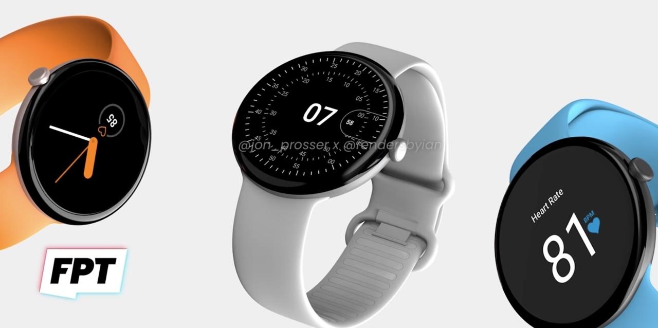 「Google Pixel Watch」は円形デザインで10月登場? 予想レンダリングこちら…薄っす!