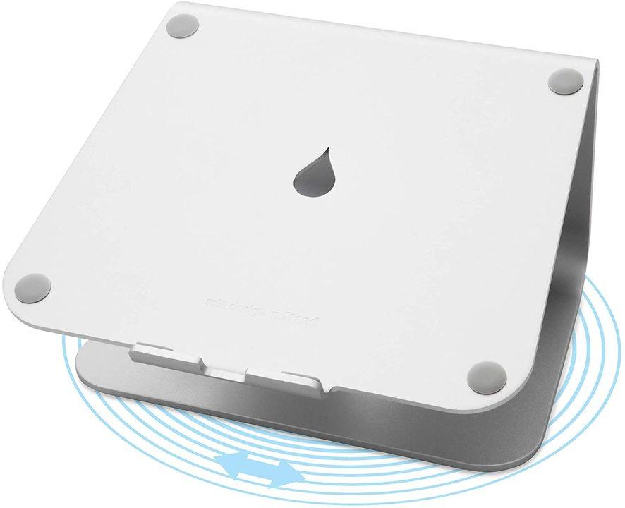 MacBookと相性良し。360度回転するノートPCスタンド