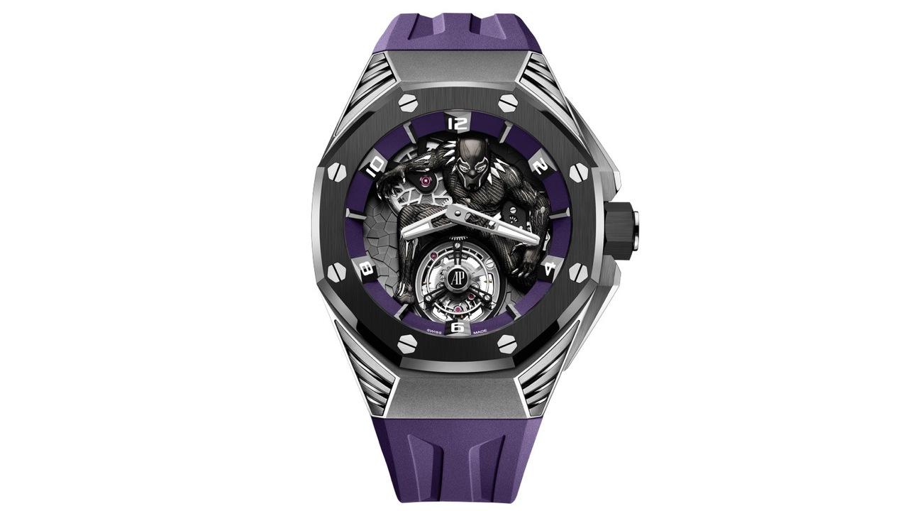 スイスの高級腕時計オーデマ・ピゲがマーベルとコラボ。250本限定のブラックパンサー腕時計が発売!
