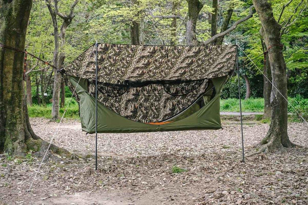 デイキャンプやBBQにもいいね! 人気上昇中のハンモック型テントの実力を試してみた
