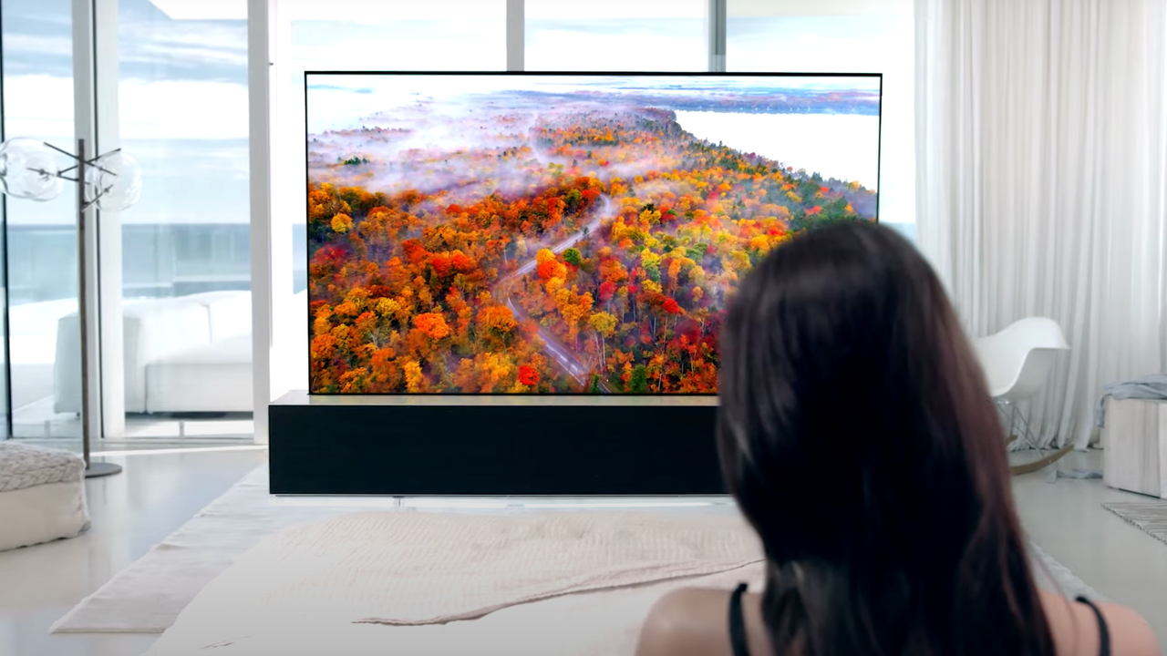 オリンピック、超豪華な巻き取り大画面テレビで見れるっぽい?
