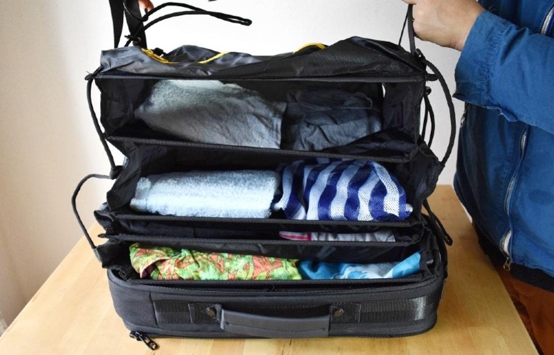 バッグが分離する折りたたみクローゼット内蔵「3WAYバックパック」を試してみた