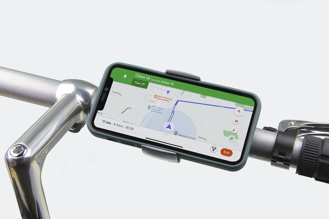 スタイリッシュでミニマルな自転車用スマホホルダー「LOOP MOUNT」