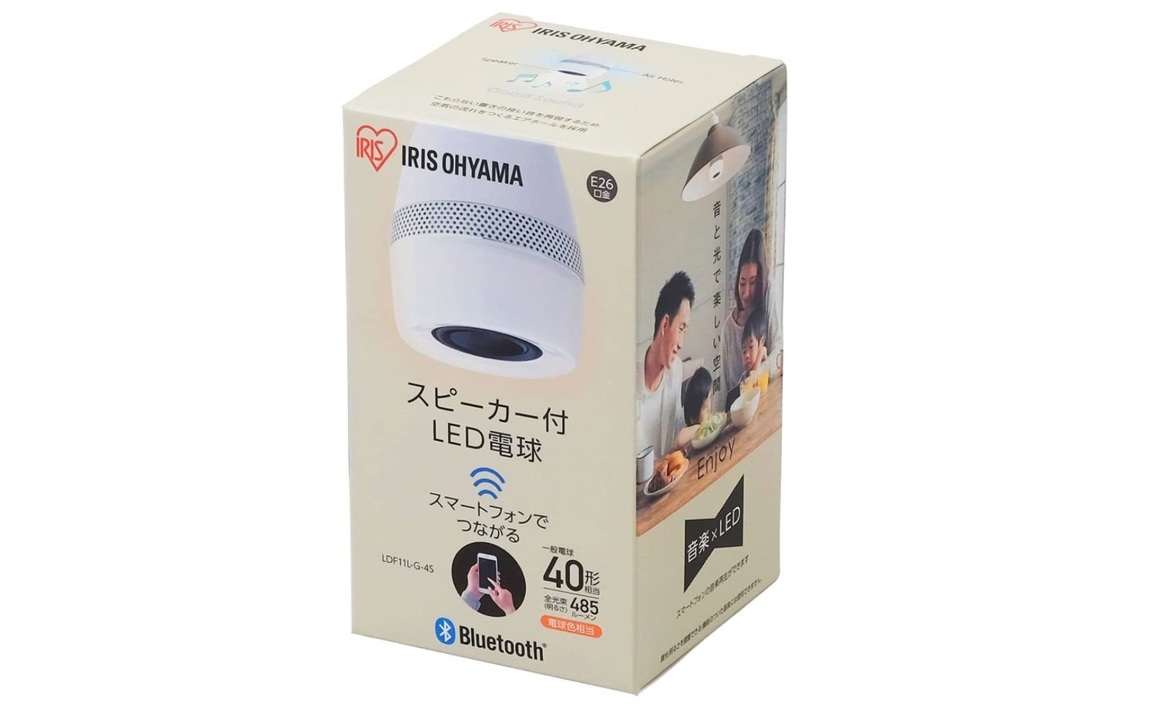 【Amazonタイムセール中!】2,000円台のスピーカー付きLED電球ほかアイリスの家電・家具が多数