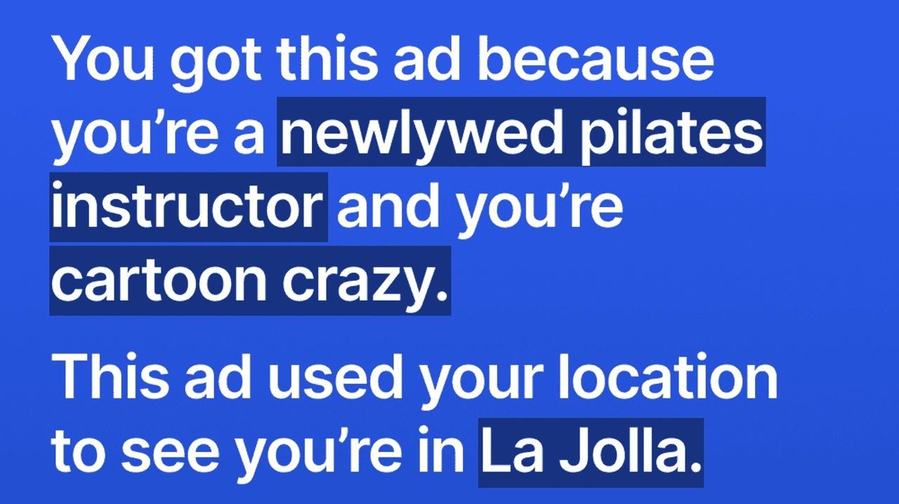 秀逸? Facebook広告の仕組みを使ってプライバシー喚起を試みる