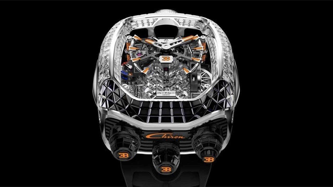 ジェイコブ×ブガッティ・シロンの高級腕時計に新型登場。燃料計が付いて16気筒エンジンが動く!