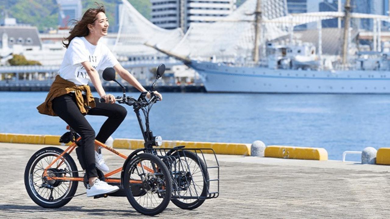 カワサキが設計した3輪カーゴeバイク「ノスリス」。積載量20kgでフル電動版もある