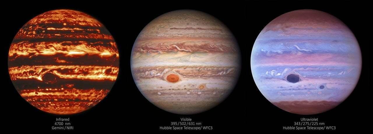 赤外線で見た木星が怖すぎる