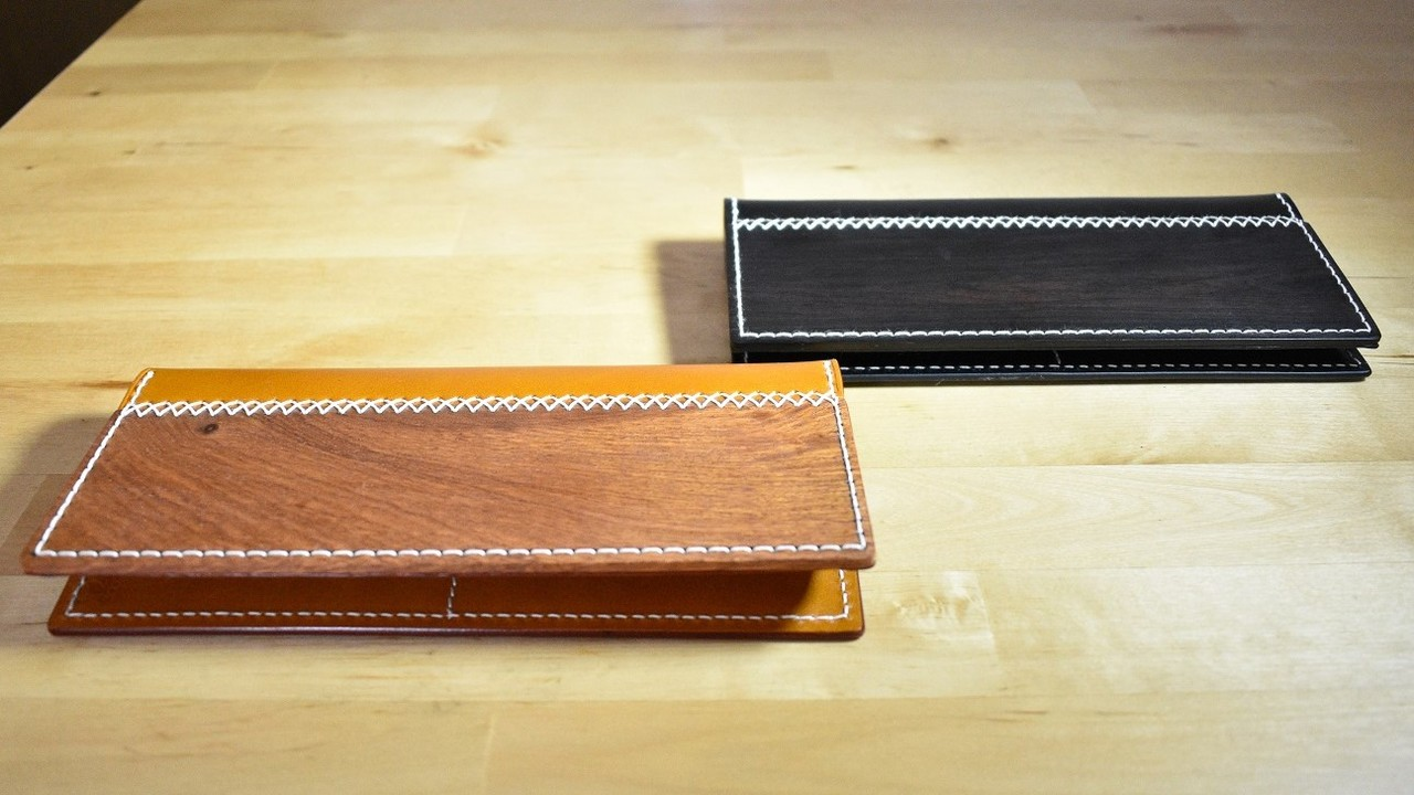紫檀と高級レザーがフュージョン! 個性的な長財布「ARTIMBER」を使ってみた