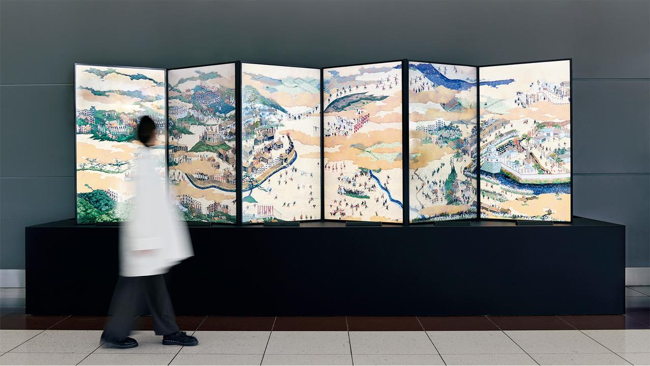 500人以上の武士が同時に動く! 「関ケ原山水図屏風」をドット絵でアニメ化した芸術作品