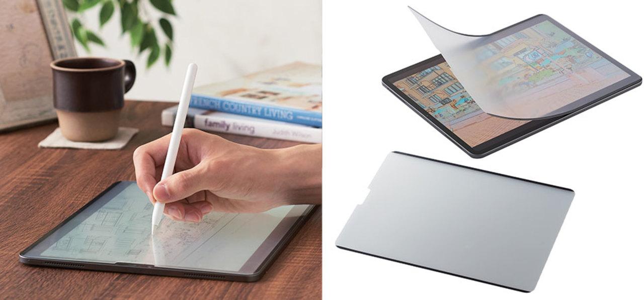 夢中で描ける紙のような描き心地! 前モデルから「浮き」と「感度」を改善した「iPad用着脱式ペーパーライクフィルム」