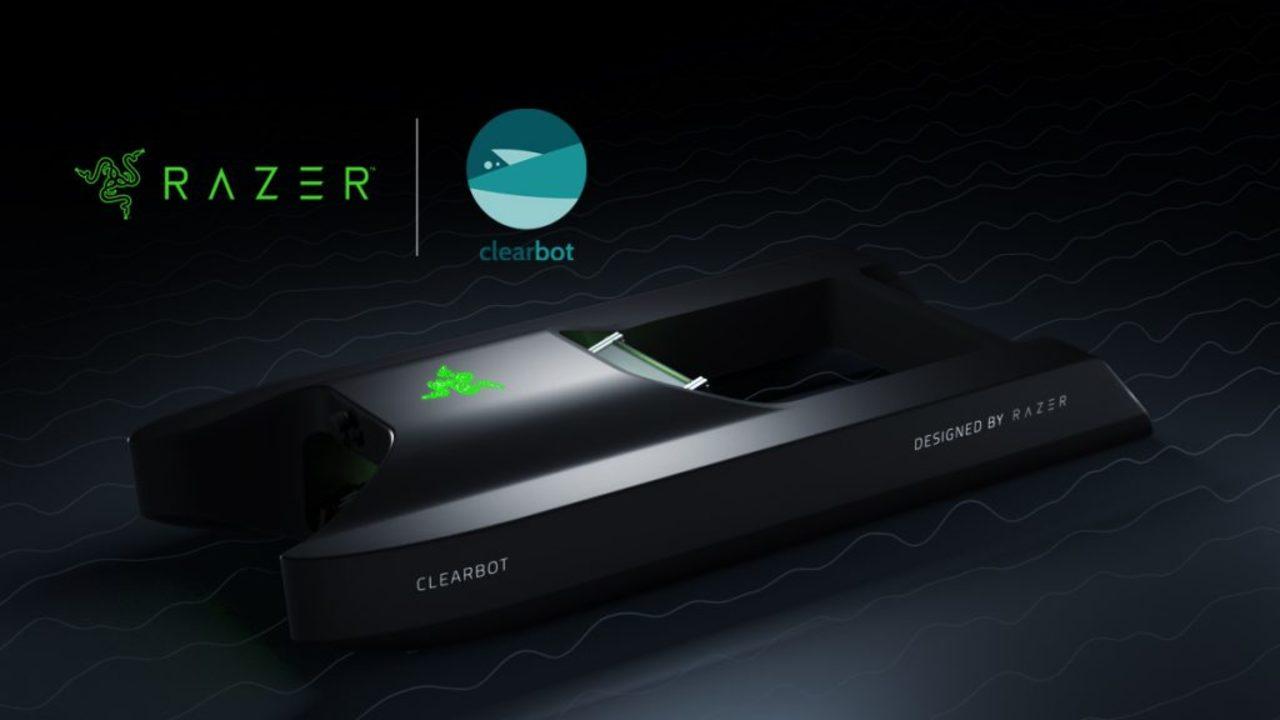 ゲーミングPCのRAZER、Clearbotと提携して海上ゴミを掃除する船型AIロボットを開発