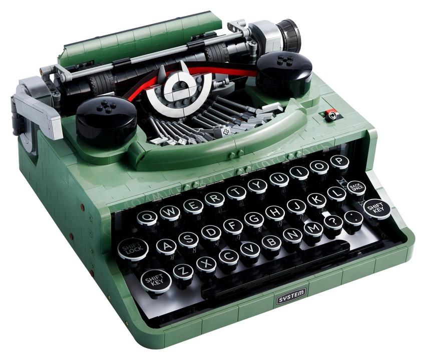 レゴアイディアからレトロなタイプライターが製品化。印字はできないけどカチャカチャ打てる