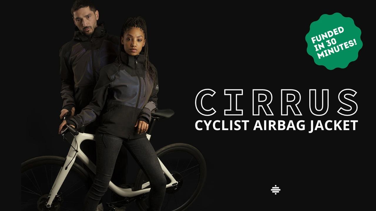 事故を自動検出し0.08秒で膨らむ自転車用エアバッグジャケット「CIRRUS」
