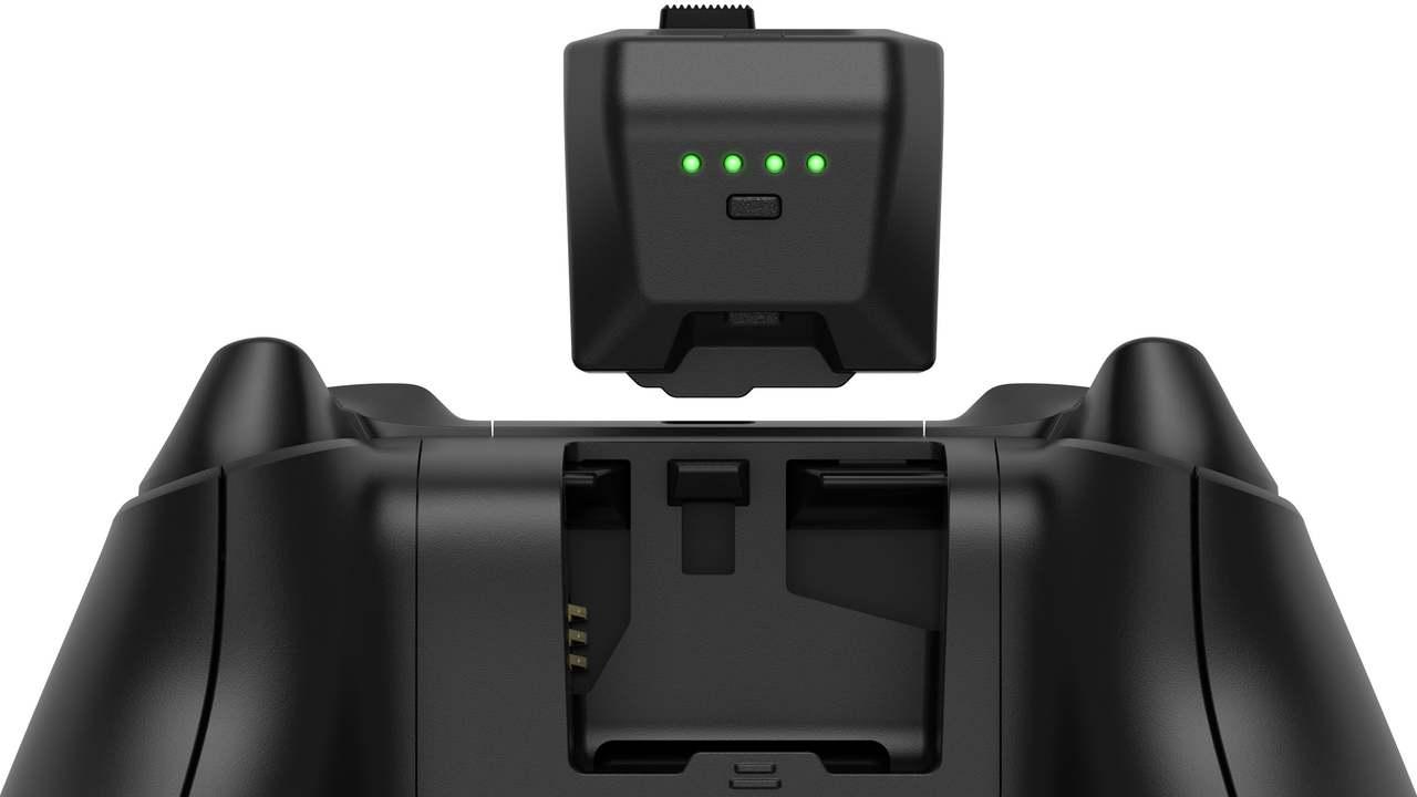 交換中もゲーム機との接続が切れない、Xboxコントローラー用バッテリーパック
