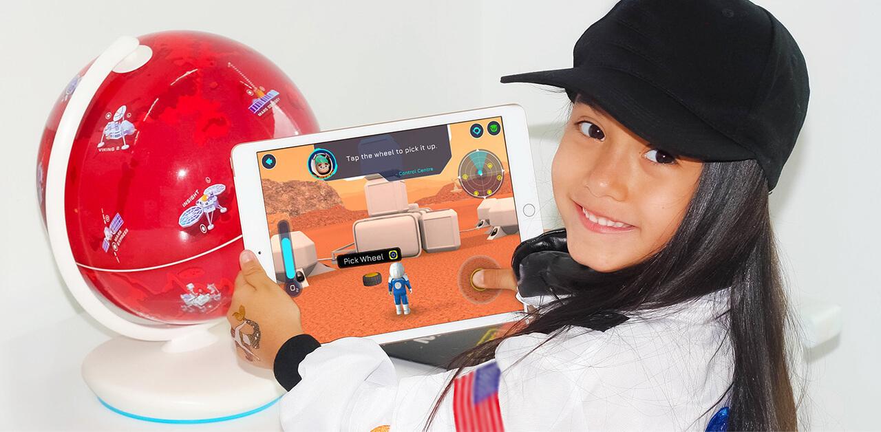 1,000以上のトリビア満載。AR火星儀で遊んだら子供が火星移住に興味を持つかも?