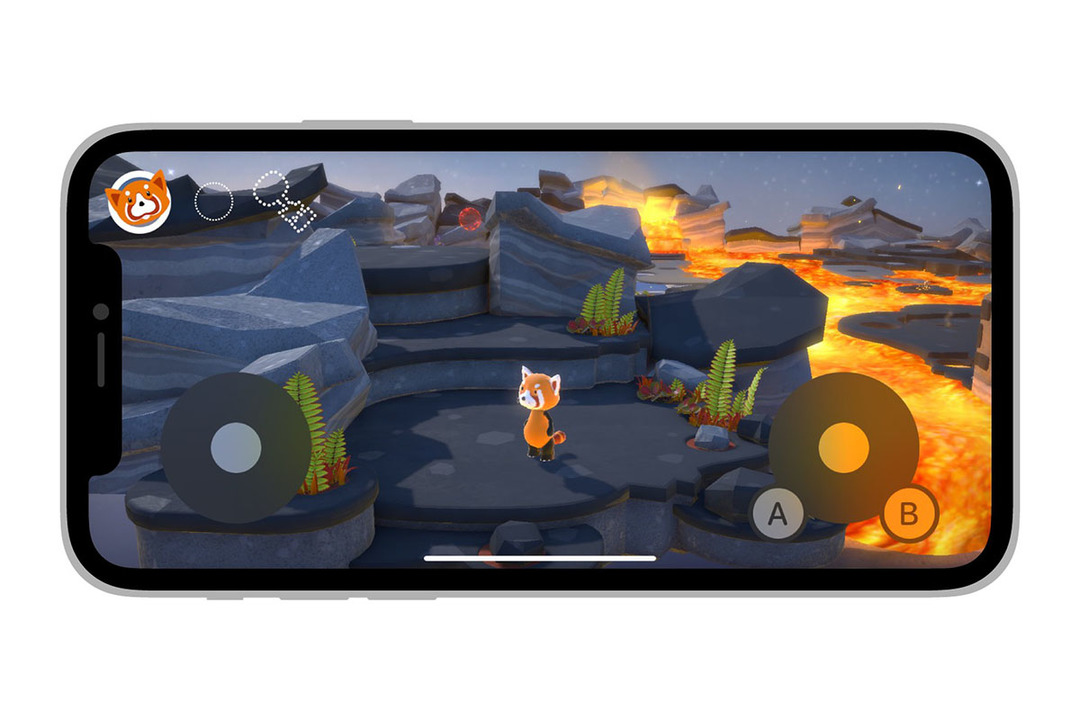 iOS 15の画面上ゲームコントローラーはこんな感じ