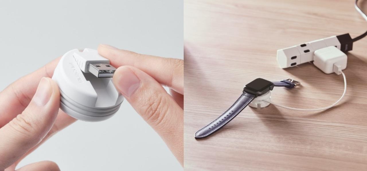 クルっと巻き取り携帯に便利なApple Watch専用充電ケーブル