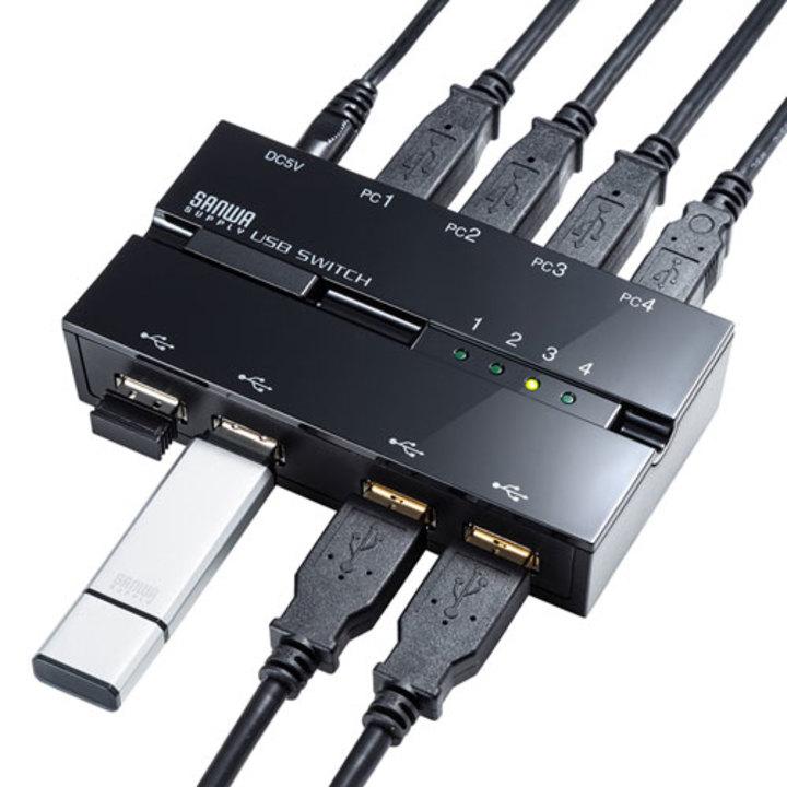 2台から4台まで。複数台のPCでUSB機器を一括切り替えできるスイッチが5モデル登場