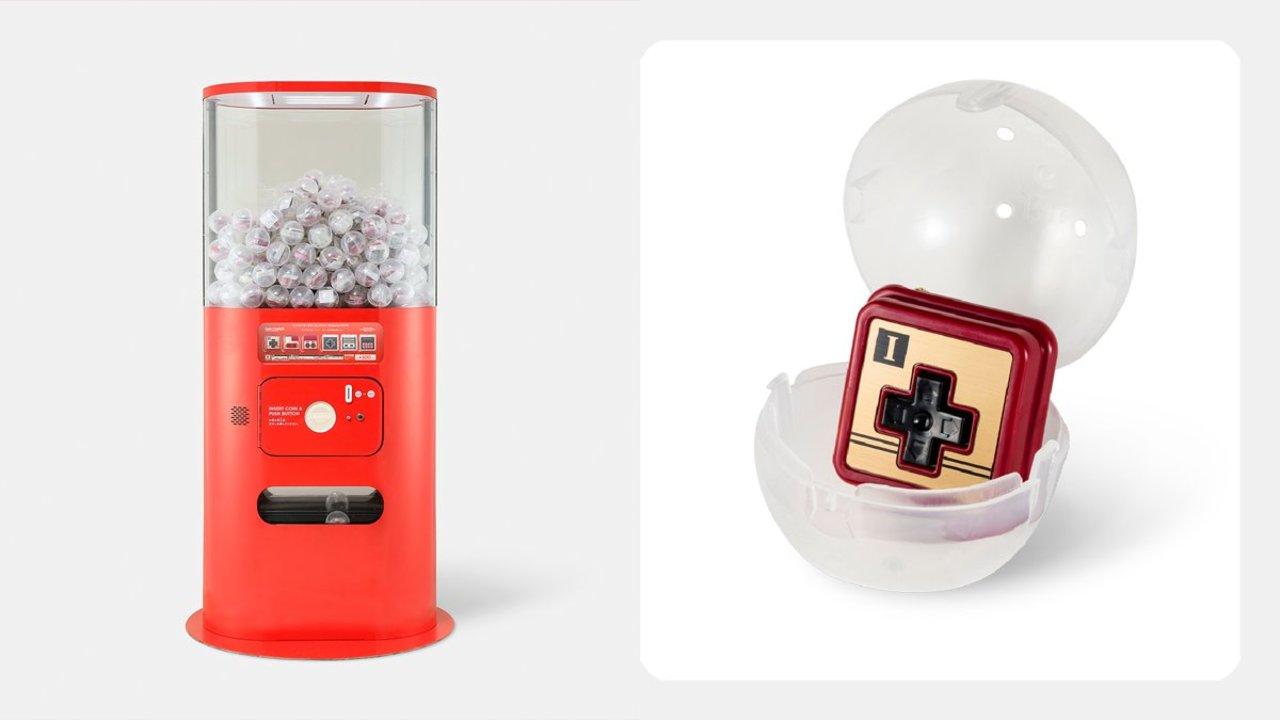 ファミコンとNESのコントローラーを3分割にしたカプセルトイ。Nintendo TOKYOでガチャれるよ