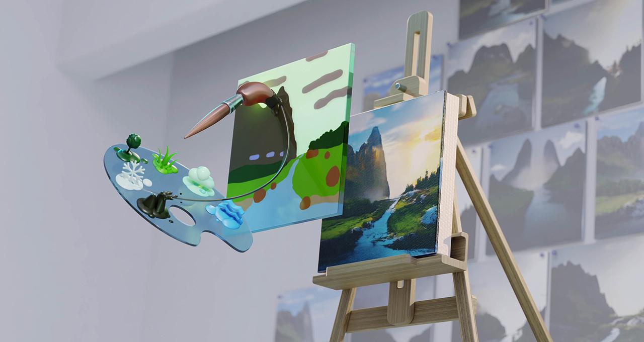 AIが単純なラクガキを写実的なCGに変換。「NVIDIA Canvas」ベータ版でアーティストになろう