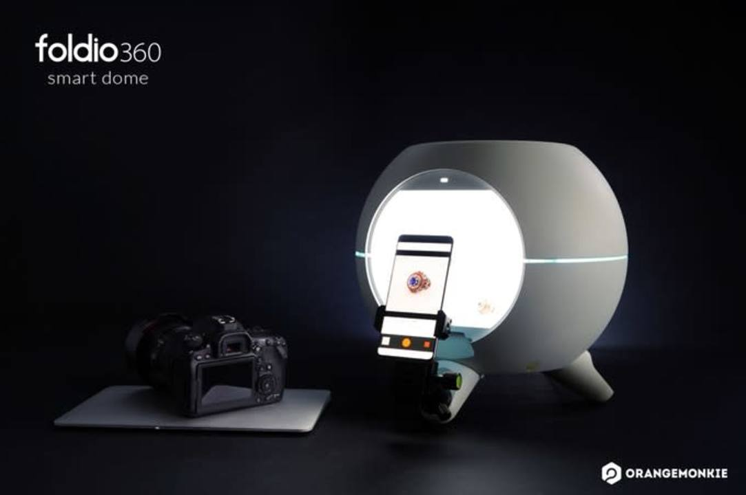 物撮りするならコレ。光の反射が均一になる球体ライトボックス「Foldio360 Smart Dome」