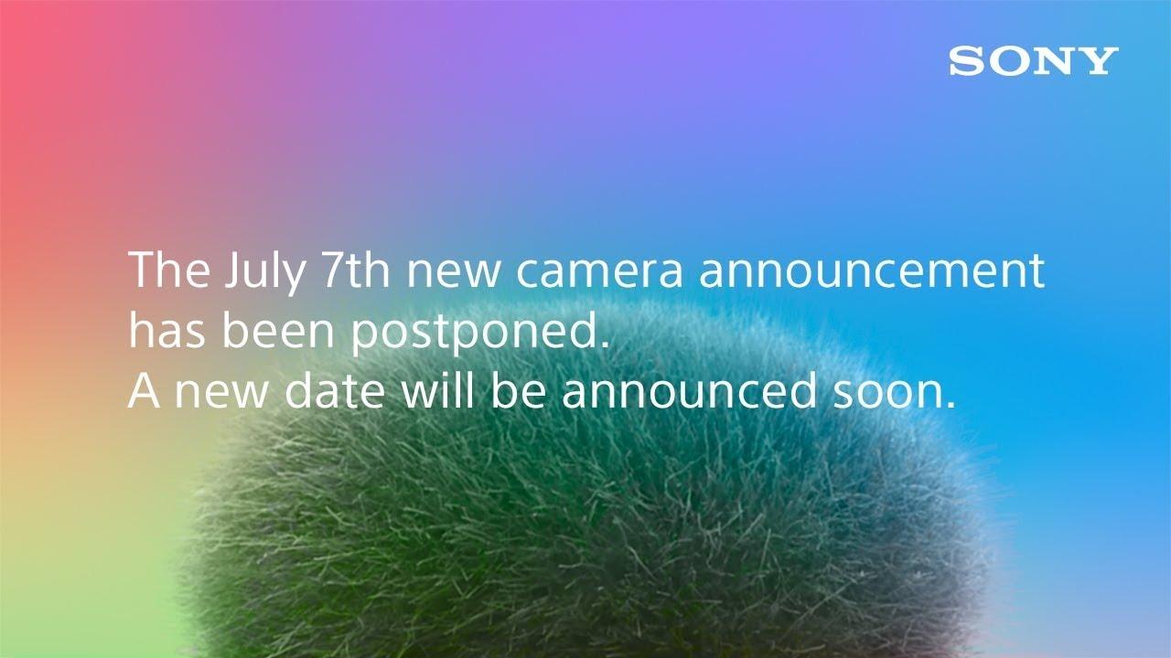無念…。ソニー、ティザー予告していた新作カメラの延期を発表