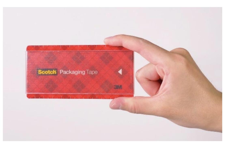 テープは円である必要はない。引き出しにもポケットにも入るポータブル梱包テープ