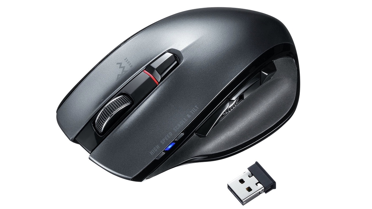 30倍の高速スクロールができる無線マウス。5つのボタンをカスタムできるのにゲーミング用じゃないっていうね