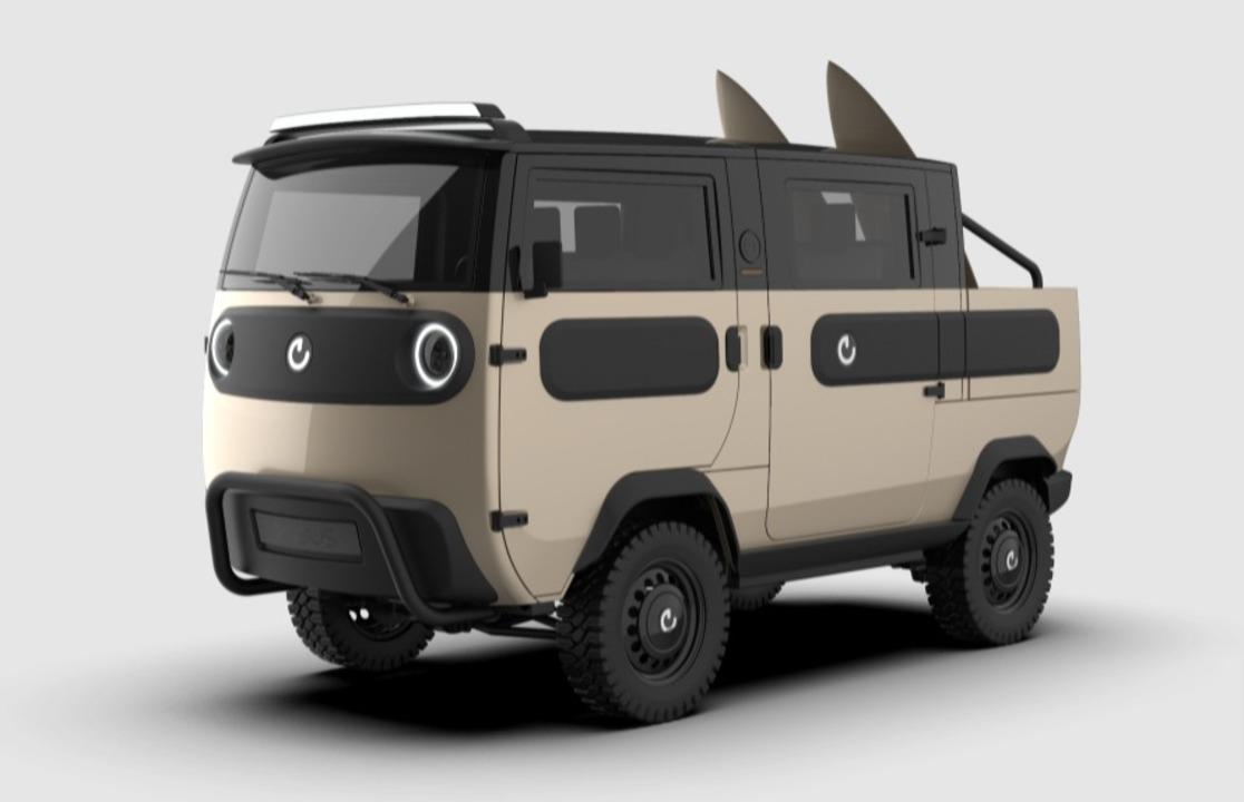 コンセプトは「レゴ」! キャンパーにもピックアップにもなるドイツのモジュール式EVバス「XBUS」