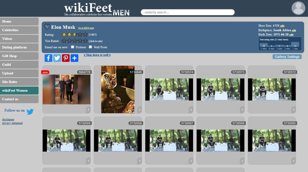 イーロン・マスクの足、足フェチのみなさんからは「別にフツー」の評価