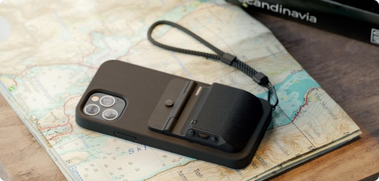 ホイール、ファンクションボタン付きのデラックスiPhoneグリップ