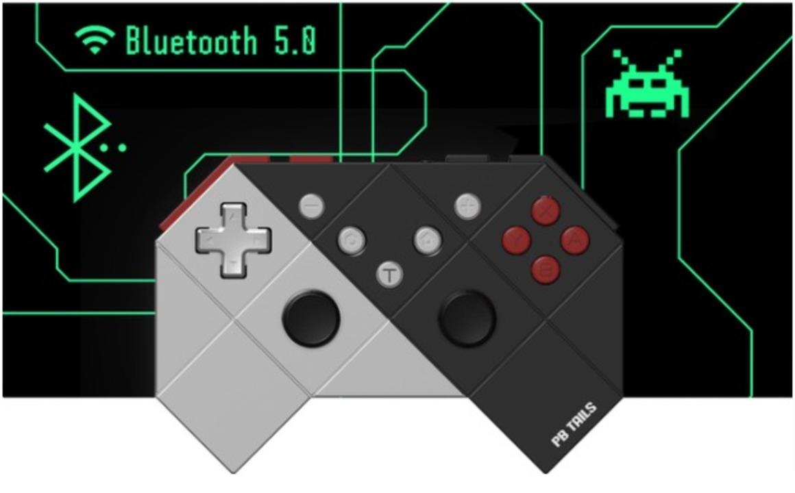 懐ゲー『ダライアスII』から着想した温故知新な無線ゲームパッド。6軸モーション操作可能で軽くて頑丈!