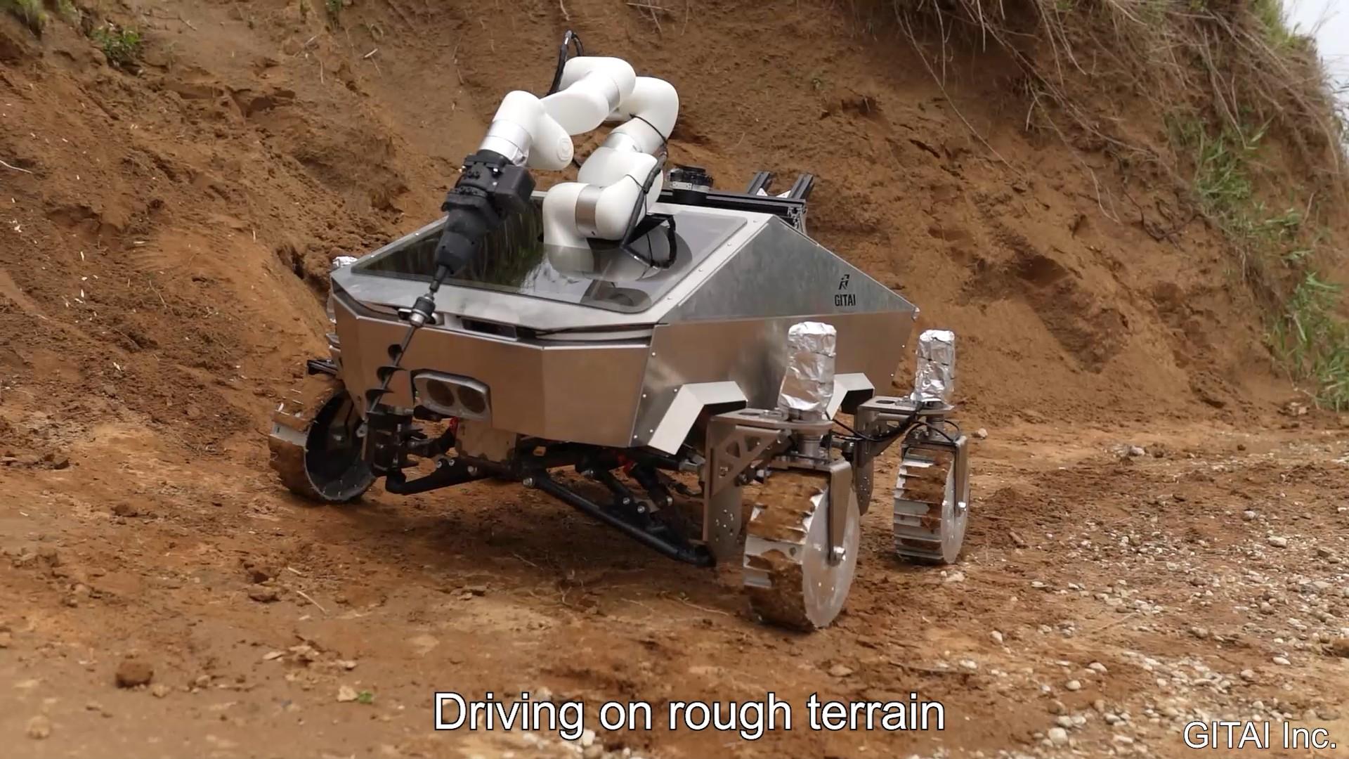 ギタイの月面作業ローバーがどう見てもサイバートラックインスパイア