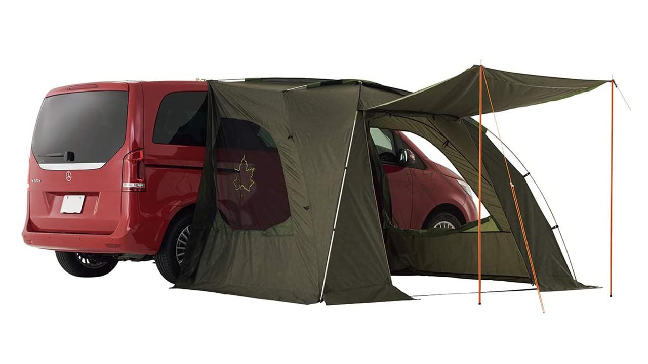 ここ(車)をキャンプ地とする! 3万円でポチれるロゴスのカーサイドオーニング